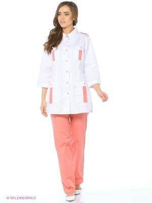 Брюки медицинские Med Fashion Lab. Цвет: коралловый