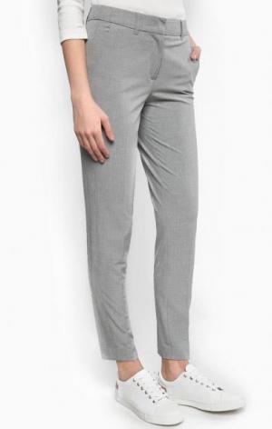 Серые трикотажные брюки olsen. Цвет: серый