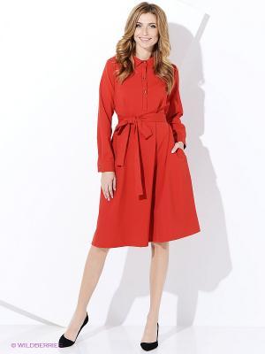 Платье Ника CLABIN. Цвет: красный