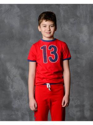 Футболка Modniy JUK. Цвет: красный
