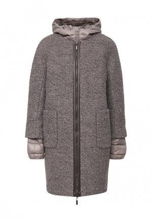 Комплект куртка и пальто pompa. Цвет: коричневый