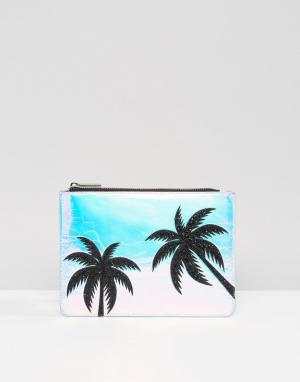 Skinnydip Сумочка с блестящими пальмами. Цвет: мульти
