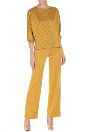 Костюм: блуза, брюки Adzhedo. Цвет: горчичный, красный, сердца