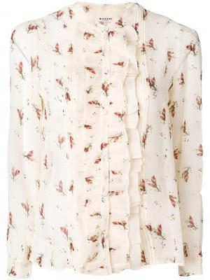 Блузка с цветочным принтом Masscob. Цвет: телесный