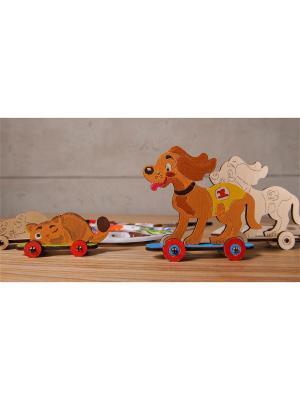 Конструктор 3D-пазл Ugears 4kids - Котёнок и щенок UGEARS.. Цвет: светло-желтый