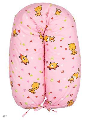 Подушка для беременных EUROMAMA. Цвет: розовый, рыжий, салатовый