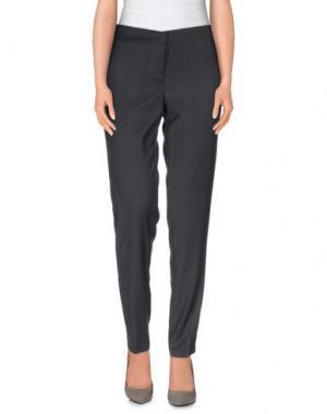 Повседневные брюки MAIOCCI. Цвет: свинцово-серый