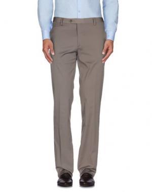 Повседневные брюки ROBERTO PEPE. Цвет: хаки