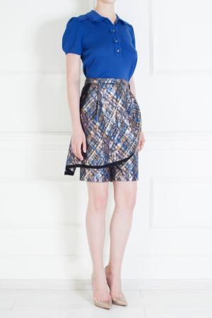 Юбка-шорты из хлопка и полиметалла Marc Jacobs. Цвет: пурпурный, фиолетовый, серебряный