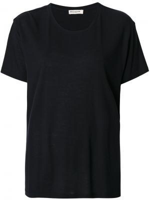 Свободная футболка Masscob. Цвет: синий