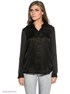 Блузка S.OLIVER. Цвет: темно-коричневый