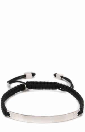 Плетеный браслет Tateossian. Цвет: черный