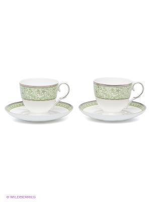 Чайный набор Аделина Pavone. Цвет: светло-зеленый, белый, серебристый