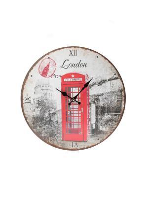 Часы настенные Mitya Veselkov. Цвет: белый, красный