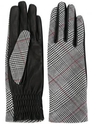 Твидовые перчатки Paule Ka. Цвет: серый