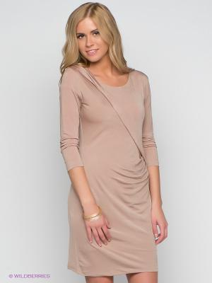 Платье Aaiko. Цвет: бежевый