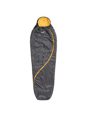 Спальный мешок SMOOZIP +7 Jack Wolfskin. Цвет: серый