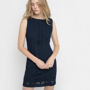 Платье без рукавов MOLLY BRACKEN. Цвет: темно-синий