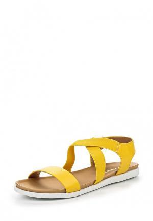 Сандалии Inario. Цвет: желтый