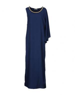 Длинное платье ELLA LUNA. Цвет: темно-синий