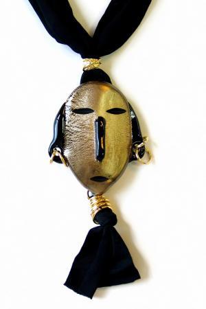 Колье MASAI Divetro. Цвет: черный, золото