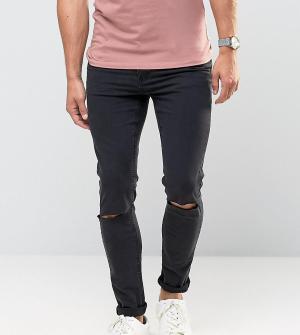 Cheap Monday Черные рваные джинсы скинни. Цвет: черный