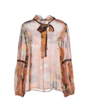 Блузка KORALLINE. Цвет: оранжевый