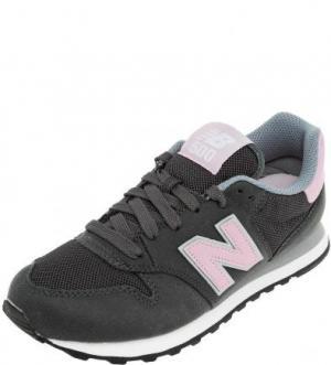 Серые кроссовки с вкладной стелькой New Balance. Цвет: серый