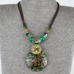 Кулон Венеция муранское стекло, арт. пд-кам2382 Бусики-Колечки. Цвет: зеленый