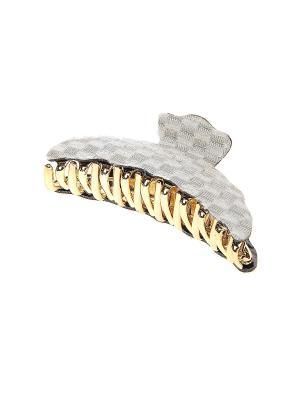 Заколка-краб Gusachi. Цвет: серый, золотистый