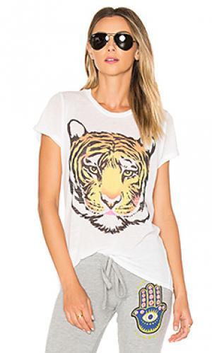 Футболка edda wild tiger Lauren Moshi. Цвет: белый