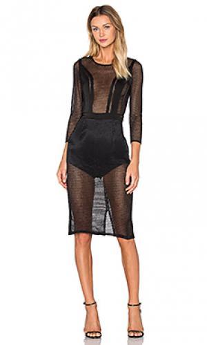 Платье sabrina NBD. Цвет: черный