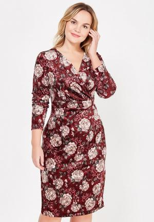 Платье Lina. Цвет: бордовый