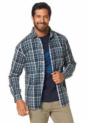 Комплект: рубашка + футболка GREY CONNECTION. Цвет: оливковый+темно-синий