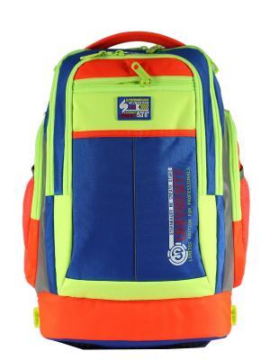 Рюкзаки STERNBAUER. Цвет: синий, оранжевый, салатовый