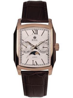 Часы Royal London 40090-05. Цвет: коричневый,золотистый