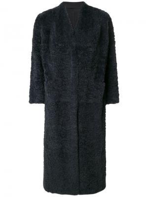 Пальто с рукавами три-четверти Salvatore Santoro. Цвет: синий