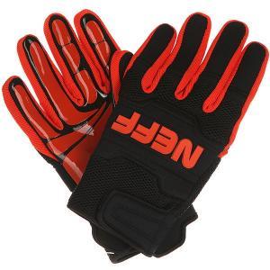Перчатки сноубордические  Rover Glove Black/Orange Neff. Цвет: черный,красный