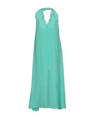 Длинное платье SPACE STYLE CONCEPT. Цвет: светло-зеленый