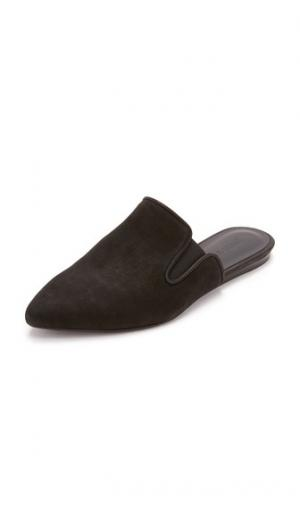 Замшевые туфли без задника Jenni Kayne. Цвет: голубой