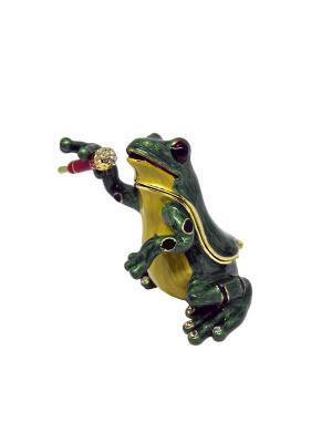 Шкатулка Лягушка певец Yen Ten. Цвет: зеленый
