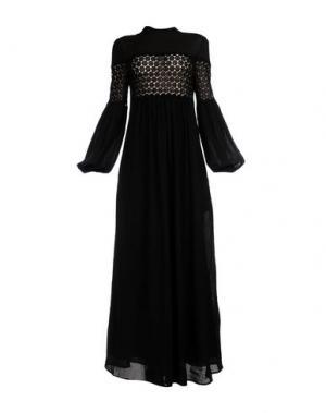 Длинное платье VERONIQUE BRANQUINHO. Цвет: черный