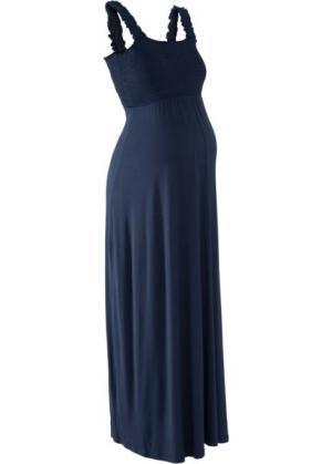 Мода для беременных: макси-платье (темно-синий) bonprix. Цвет: темно-синий