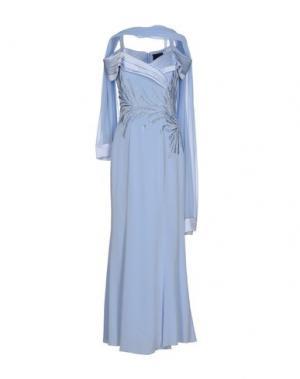 Длинное платье MUSANI COUTURE. Цвет: небесно-голубой