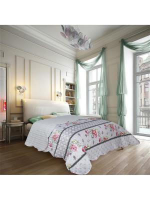 Покрывало Style 2 спальное Евро Amore Mio. Цвет: серый, розовый
