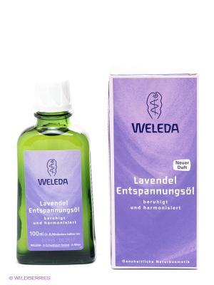 Расслабляющее масло с лавандой Weleda. Цвет: фиолетовый, зеленый