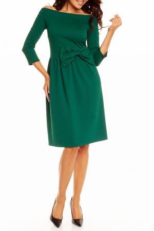 Платье NOMMO. Цвет: зеленый