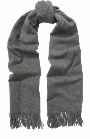 Вязаный шарф из овечьей шерсти Acne Studios. Цвет: серый