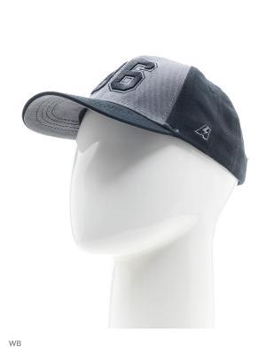 Бейсболка номерная Atributika & Club. Цвет: черный, серый