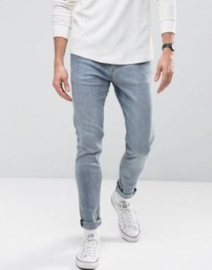Weekday Голубые супероблегающие джинсы. Цвет: синий